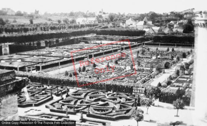 Photo of Villandry, Chateau De Villandry, Gardens c.1935