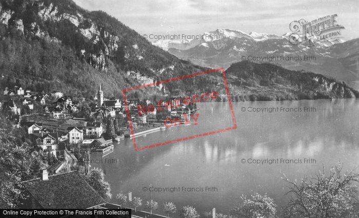 Photo of Vitznau, And The Alps c.1935