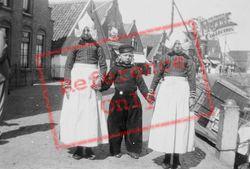 Children In Volendam Costumes c.1935, Volendam