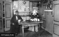 Couple And Tiled Fireplace c.1935, Volendam