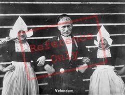 People In Volendam Costumes c.1935, Volendam