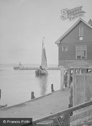 Sailing Boat In The Harbour c.1938, Volendam
