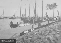 Sailing Boats In The Harbour c.1938, Volendam