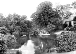 Waddesdon, Manor, The Lake 1897