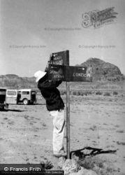 Dr Unwin's Signpost, En Route To 1965, Wadi Rum
