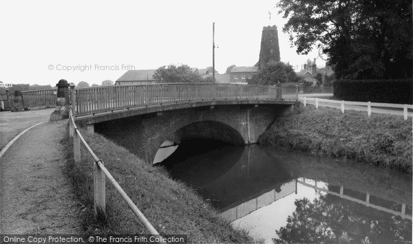 Wainfleet All Saints,Bridge and Old Mill c1955,Lincolnshire