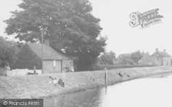 Wainfleet All Saints, Fishing On The River c.1955