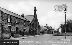 Walbottle, Post Office And Green c.1955