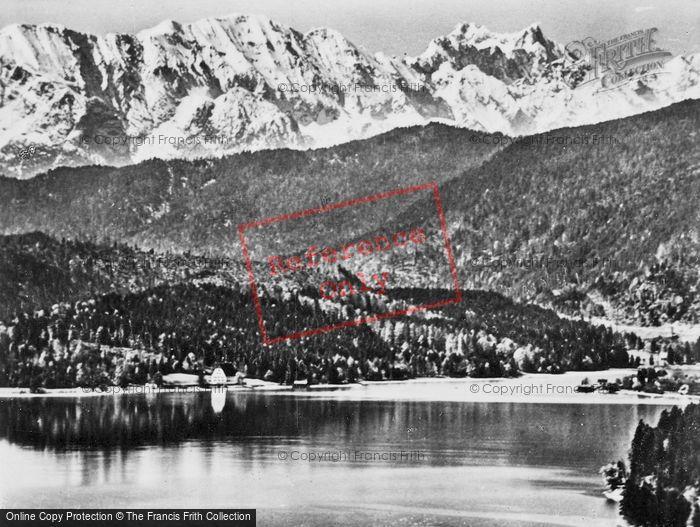 Photo of Walchensee, Klostetl, Wettersteinwand And Breitorspitze c.1930
