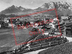 Wallgau With Wettersteinspitzen c.1930, Walchensee
