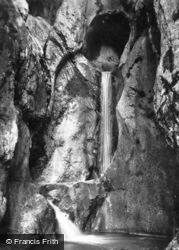 Waterfall, Kesselbergstrasse c.1930, Walchensee
