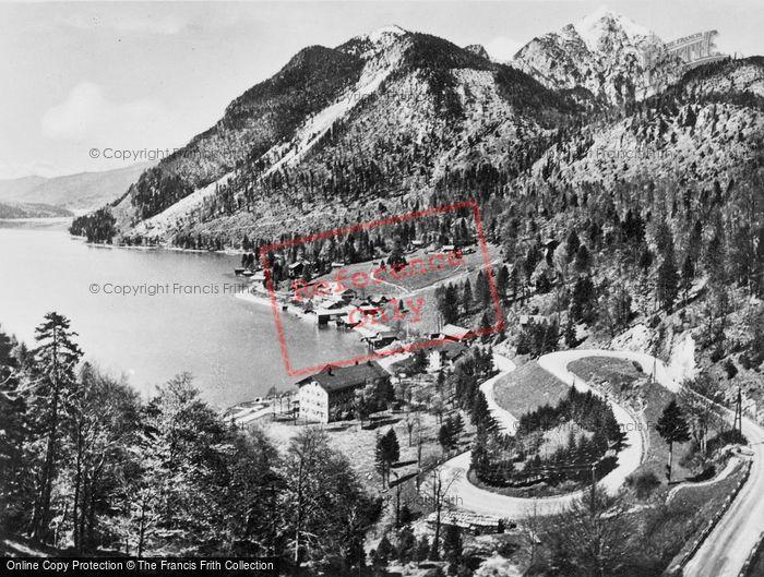 Photo of Walchensee, With Wettersteinwand, Hergostand And  Kesselberg Pass c.1930