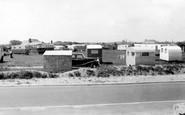 Walcott on Sea, Cliffside Caravan Park c1955