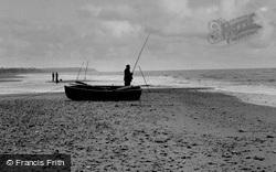 Walcott On Sea, Surf Fishing c.1955, Walcott