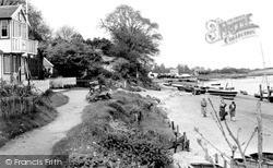 The Club House And Beach c.1960, Waldringfield