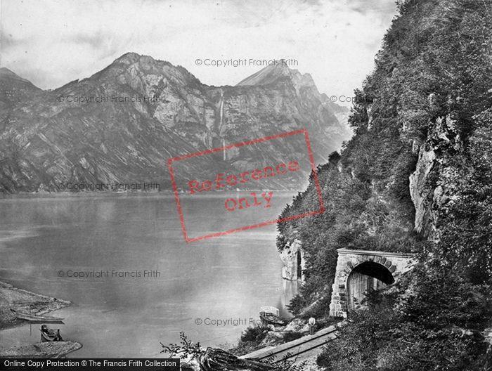 Photo of Walenstadt, Lake, Railway Tunnel c.1860