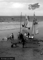 Wallasey, Going Sailing From Harrison Drive Beach c.1965
