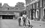 Wallingford, Bowling on the lawn at Castle Priory c1955