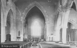 St Mary's Church Interior 1893, Wallingford