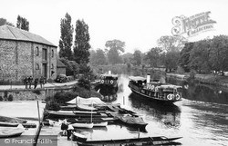Steamers On The River Thames c.1955, Wallingford