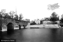 The Bridge And St Peter's Church 1893, Wallingford