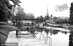 The Diving Stage c.1955, Wallingford