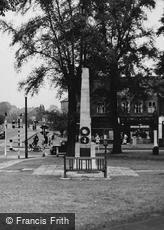 Wallington, the War Memorial c1950