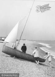 Sailing Boat On The Beach c.1960, Walmer