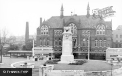 Walsall, The Memorial c.1955