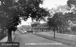The Royal Hotel And Springhill Road c.1965, Walsall