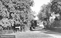 Walsham-Le-Willows, Four Ashes Corner c.1955