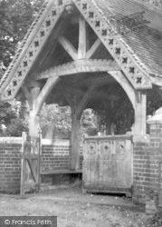 Walsham-Le-Willows, Lychgate c.1955