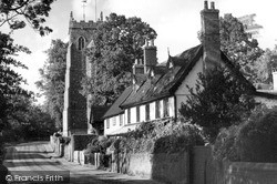 Walsham-Le-Willows, The Causeway And St Mary's Church c.1955