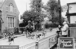 Walsham-Le-Willows, The Hunt Passing Along High Street 1959