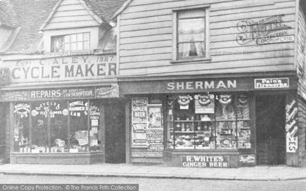 Photo Of Walthamstow Shops Church Lane C 1900