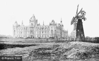 Wandsworth, Royal Victoria Patriotic Building and ''Black Sea'' Windmill c1880