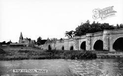 Bridge And Church c.1955, Wansford