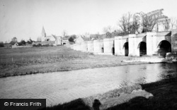 Wansford, Bridge Over The River Nene c.1950
