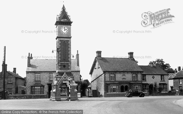 Photo of Warboys, The Jubilee Clock And The Square c.1955
