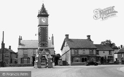 Warboys, The Jubilee Clock And The Square c.1955