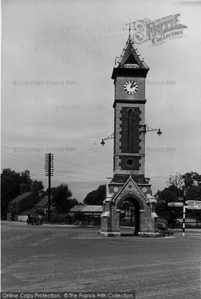 Photo of Warboys, The Jubilee Clock c.1955