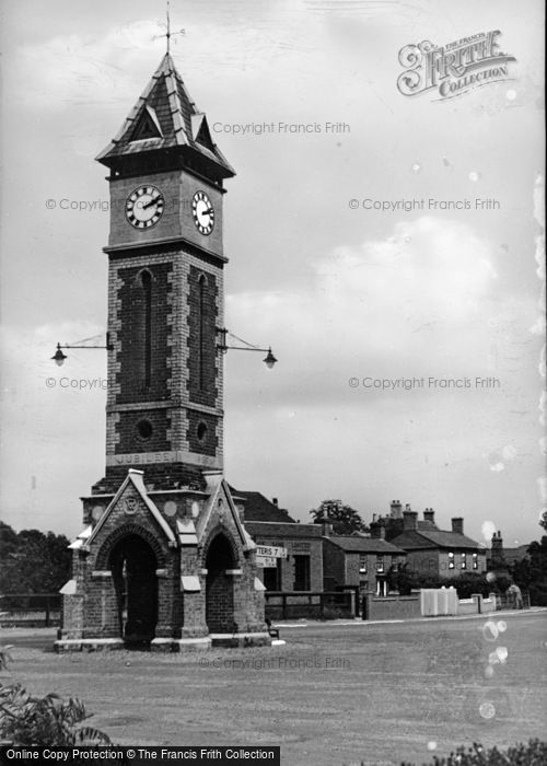 Photo of Warboys, The Jublilee Clock c.1955