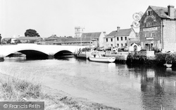 Wareham, The River Frome And Bridge c.1960