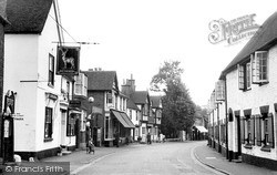 Wargrave, High Street And White Hart Hotel c.1955