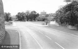 Castle From The Bridge c.1965, Warkworth