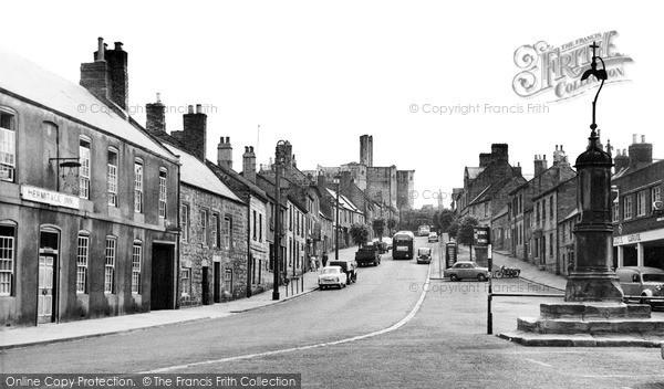 Photo of Warkworth, Castle Street c.1955