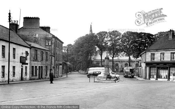 Photo of Warkworth, Market Place c.1955