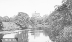 Mill Walk And The Castle c.1955, Warkworth