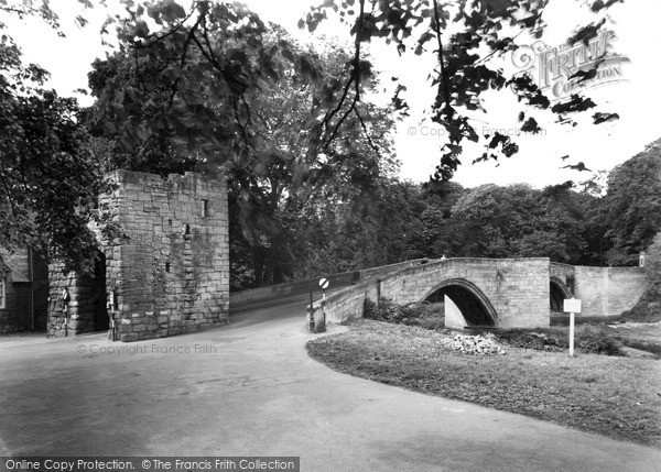 Photo of Warkworth, the Bridge and Tower c1960, ref. W391032