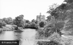 The Castle And River Coquet c.1965, Warkworth